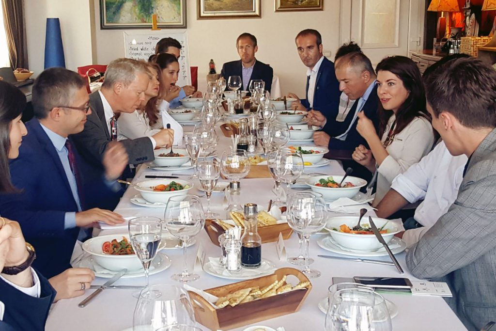 Working lunch with the US Ambassador in Kosovo