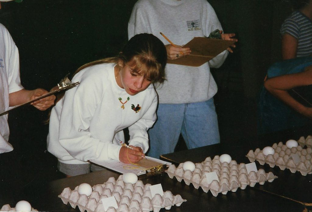 Poultry judging at the state contest in 1997